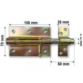 Horganyzott bajonett tolózár - 100 mm