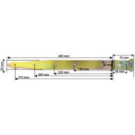 Díszes hosszúpánt - 400 mm