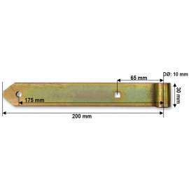 Hosszúpánt - 10/200 mm