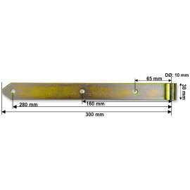 Hosszúpánt - 10/300 mm