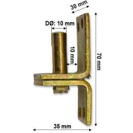 Pántfül csap - 10/10 mm