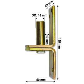 Pántfül csap - 16/10 mm