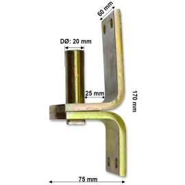 Pántfül csap - 20/25 mm