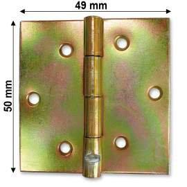 Horganyzott normál csuklópánt - 50 mm