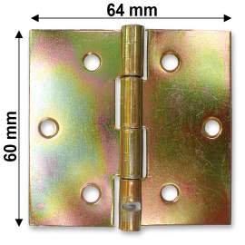 Horganyzott normál csuklópánt - 60 mm