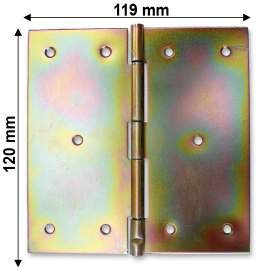 Horganyzott normál csuklópánt - 120 mm